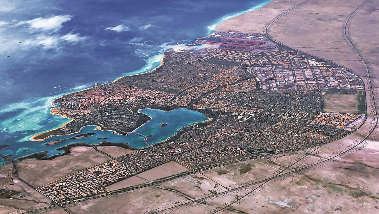Kaec detailed big map aerial close up view