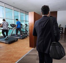 صالة الرياضة بفندق البيلسان  - مدينة الملك عبد الله الاقتصادية