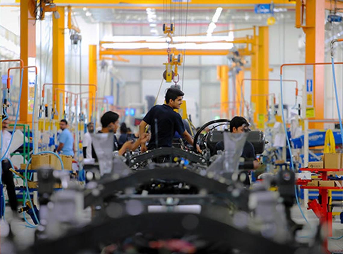 مصنع في الوادي الصناعي- مدينة الملك عبدالله الاقتصادية