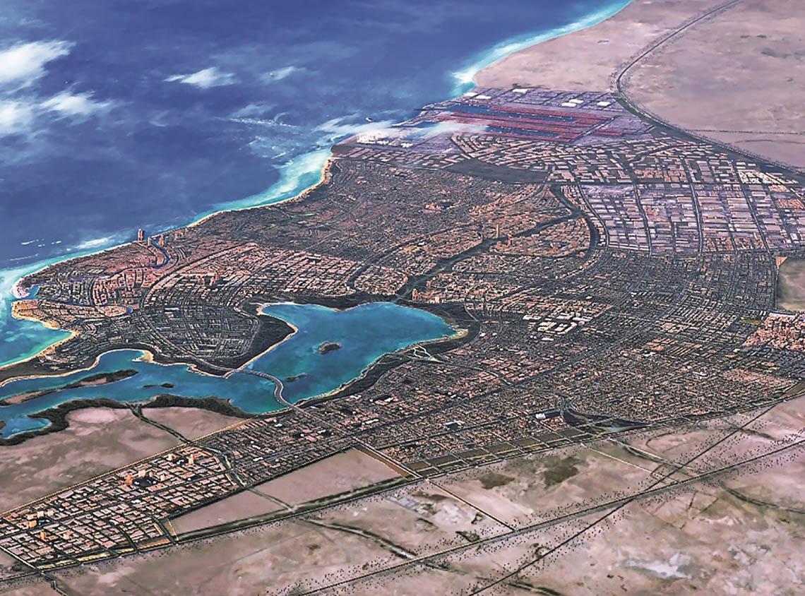 خريطة مدينة الملك عبد الله الاقتصادية