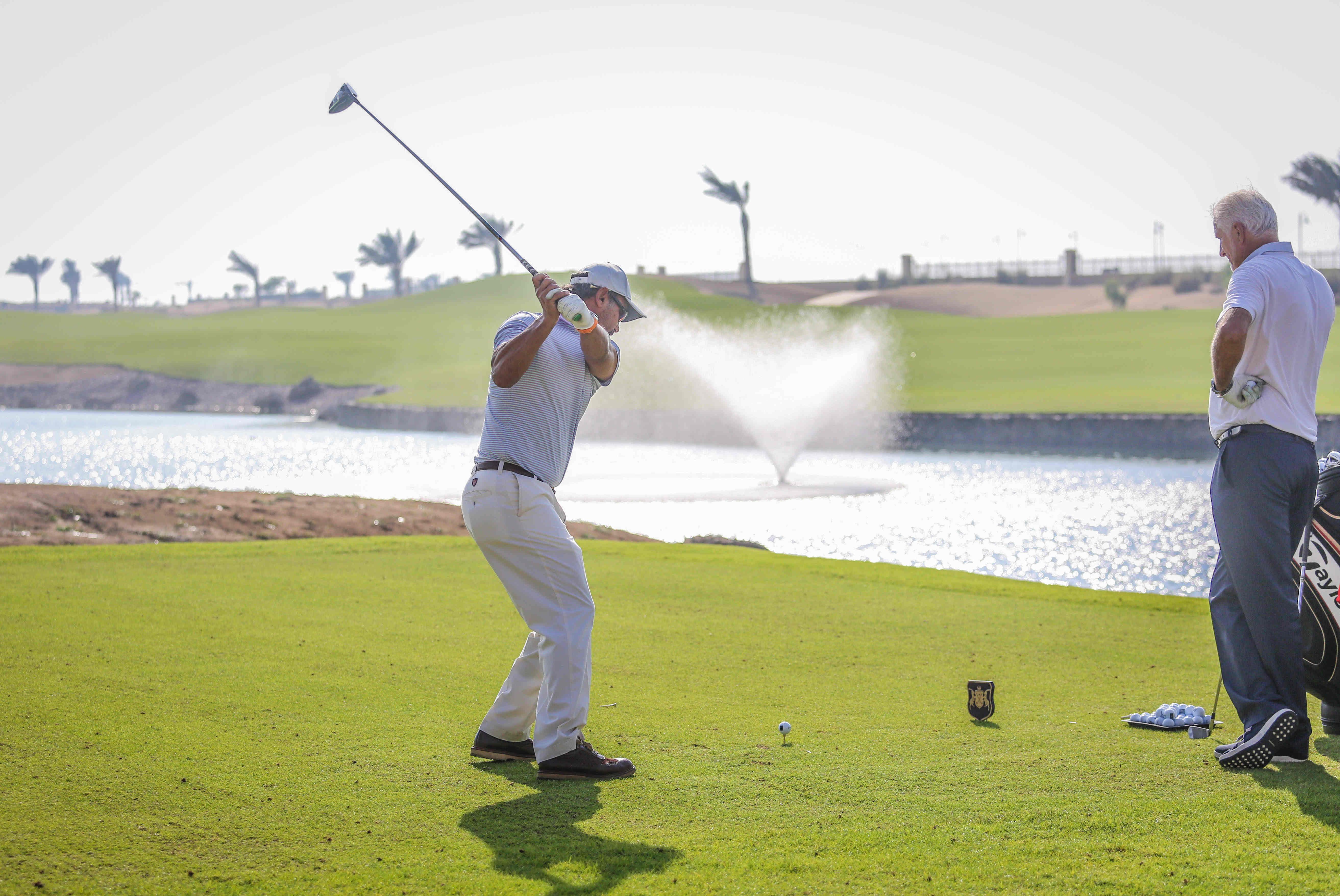 Player at KAEC Royal Greens Golf Club