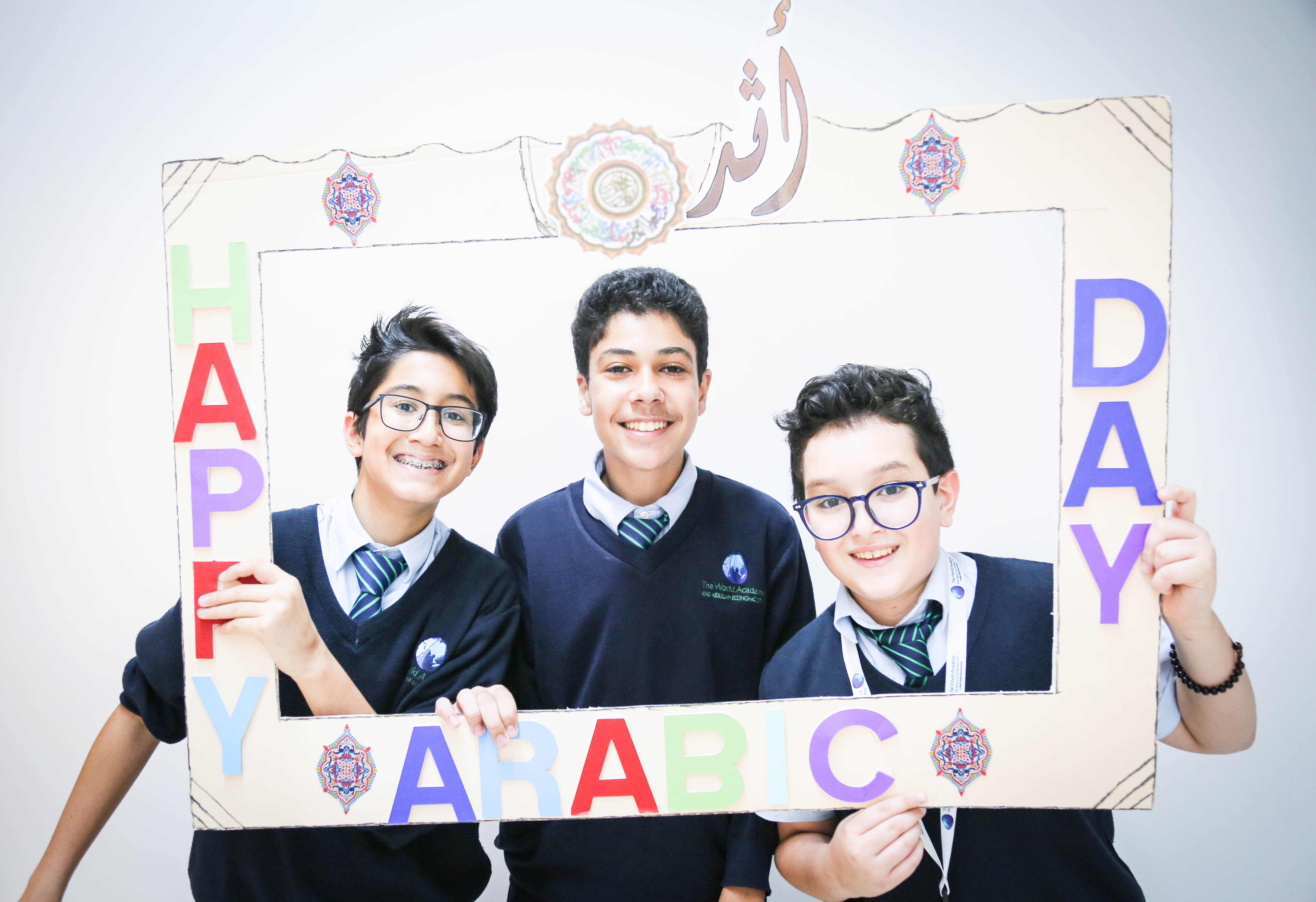 Students at The World Academy