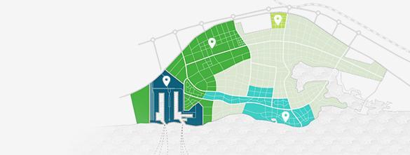 خطة رئيسية خريطة مدينة الملك عبد الله الاقتصادية - العنوان