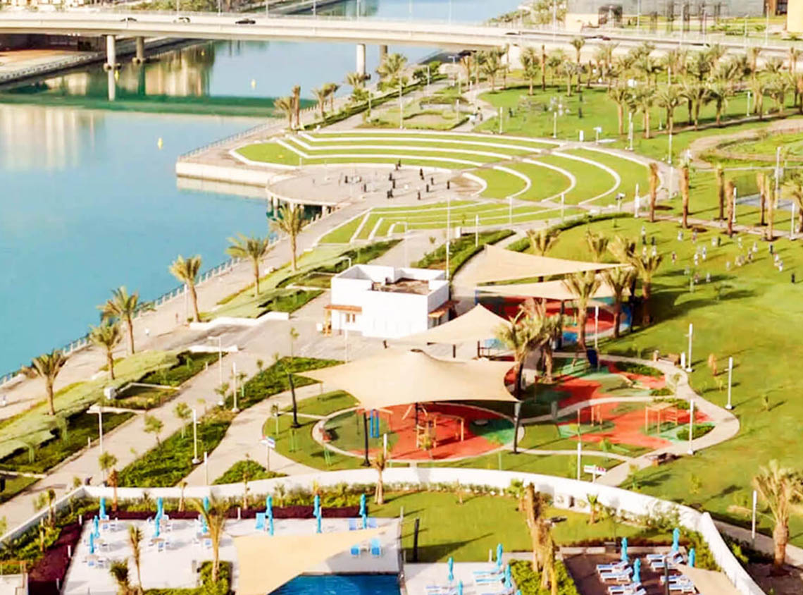 Juman Park KAEC - New Global Saudi Arabian City - Aerial with sea View