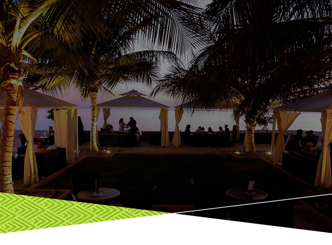 Beachfront dining at Baylasun beach Walk - KAEC