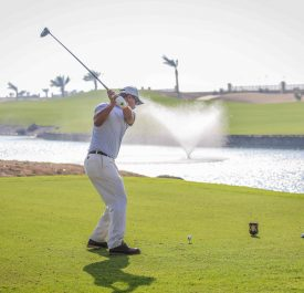 Player at KAEC Royal Greens Golf Club